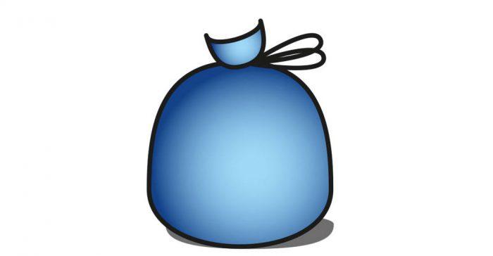 Sacchetto blu Cosmari