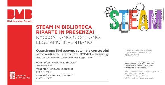 STEAM in Biblioteca - locandina